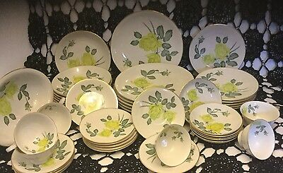 Vintage H And C Heinrich Numbered Chartrose China Complete Set For 6 People
