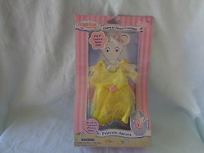 Angelina Ballerina Princess Aurora Learn To Dance Outfit 2005 New