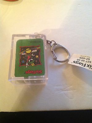 Marvin The Martian Looney Tunes Rare Keychain W Playing Cards Warners Six Flags