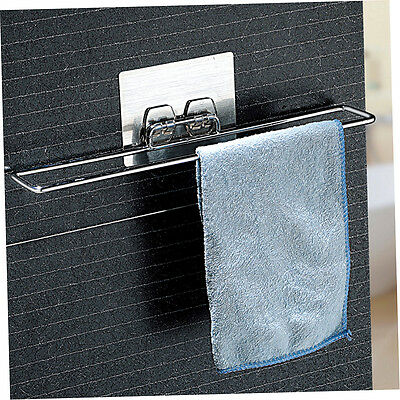Chrome Plated Metal Home Seamless Vacuum Suction Cup Rack Bathroom Towel Rack FR