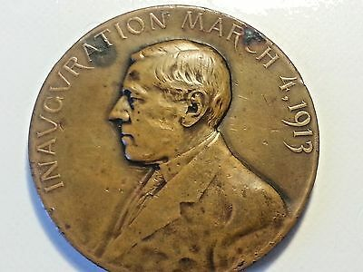 Official Woodrow Wilson 1913 Inaugural Medal, scarce, Whitehead & Hoag, Bronze