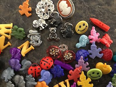 Vintage Children's Buttons Great For Craft