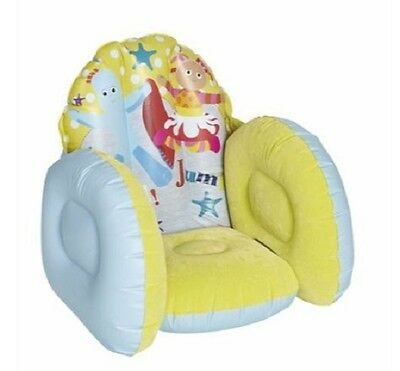 Enfants In The Night Garden Gonflable afflué Comfy Divan Chaise Siège NEW