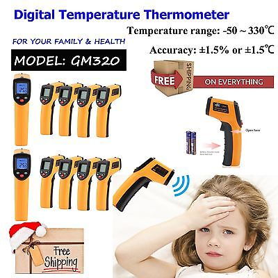 10x Non-Contact LCD IR Infrared Digital Temperature Thermometer Gun Multi-Use BS