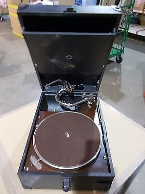 "HMV model 101 portable gramophone phonograph ""His Master's Voice"" ##7599"