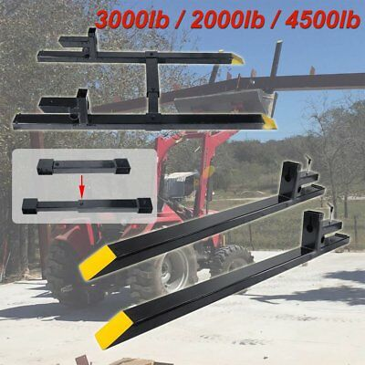 HD 2000/4500lbs Clamp on Pallet Forks Loader Bucket Tractor  Stabilizer Bar