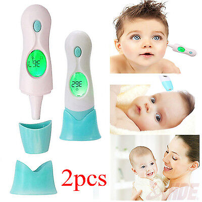 1/2 X Baby Digital 4 in 1 Forehead Ear Infrared IR Thermometer MultiFunction BS
