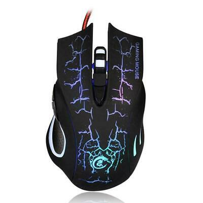 USB 2.0 5500DPI Wired Gaming Mouse Backlight Illuminated Multimedia Mice nice