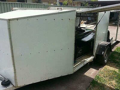 enclosed racecar bike or kart trailer