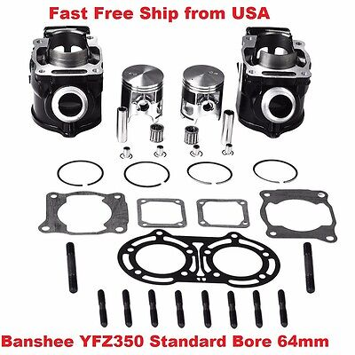 New Yamaha Banshee Yfz350 Standard Std Bore Cylinder Piston Gaske Kit 1987-2006