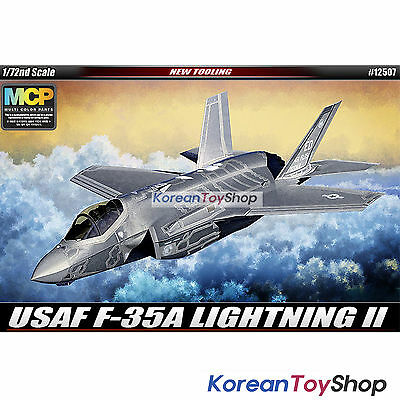 Academy 12507 1/72 Plastic Model Kit USAF F-35 A Lightning Ⅱ / Made in Korea