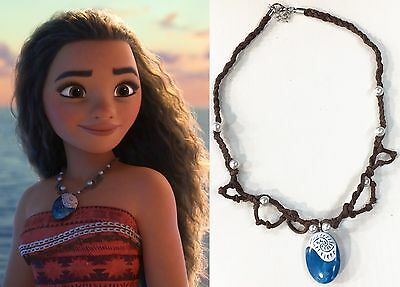 VAIANA OCEANIA MOANA COLLIER COLLANA NECKLACE pua stone COLLAR BLU COSPLAY #3