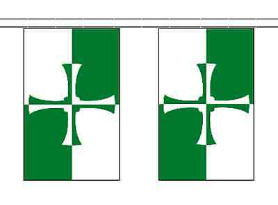 Kirkcudbrightshire County Polyester Flag Bunting - 5m with 14 Flags