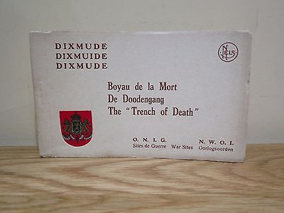 "BELGIUM Dixmude The "" Trench of Death ""10 Postcard booklet"