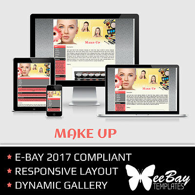 Professional eBay 2017 Auction Listing Template 17 MAKE UP New Responsive Design