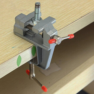 Miniature Vise Small Jewelers Hobby Clamp On Table Bench Tool Vice Aluminum New