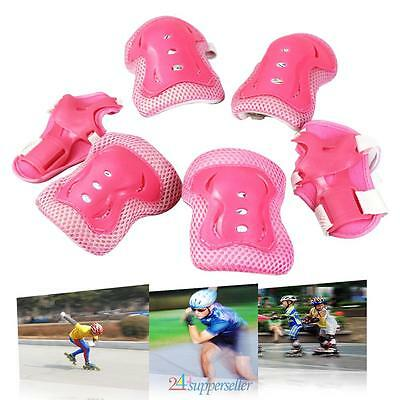 6x Children Kid Elbow Knee Wrist Protective Guard Safety Gear Pad skate bicycle