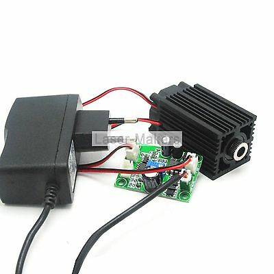 405nm 100mw Bule/Violet Cross Focusable Laser Diode Module w/12V Adapter +Driver