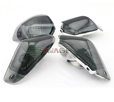 Front Rear Turn Signal Light Lens Cover For Kawasaki ZZR400 ZZR600 1994-2004