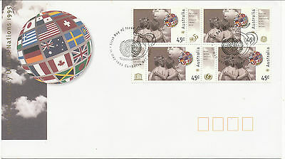Australian Stamps: 1995 United Nations FDC