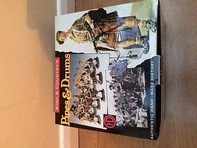 King & Country Pipes & Drums EA 26 mint boxed WW2 Eighth Army band