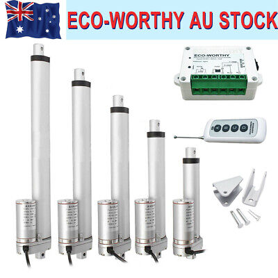 "2x450mm 18"" Stroke Linear Actuator 1500N/330lbs DC12V Motor for Auto Door Liftig"