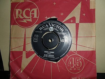 "Elvis Presley.such A Night.rca.7"" Vinyl 45Rpm"