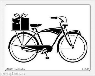 Dreamweaver Stainless Steel Embossing Stencil - Large Bike / Bicycle - New