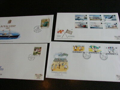 Guernsey  First Day Covers x 4 different from 1989 SEE PHOTOS