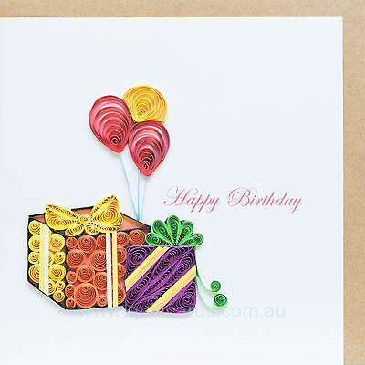 Handcrafted Paper Quilling Greeting Cards for Birthdays (presents)