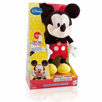 Disney Mickey Mouse Clubhouse Happy Sounds Mickey Soft Cuddly Toy New Boxed