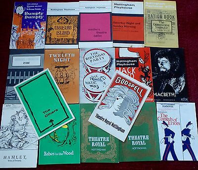 17 Vintage Nottingham Playhouse Theatre Programmes 60's and 70's
