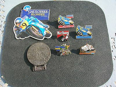 collection vintage  moto..pin s ..medaille moto club et