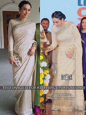 Exclusive Bollywood style Indian Party Wear Bridal Sari Wedding Asian Saree