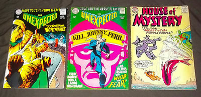 DC comics Unexpected 107 108/House of Mystery 145 lot of 3 comics FN