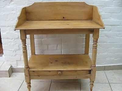 Antique Rustic Pine Washstand