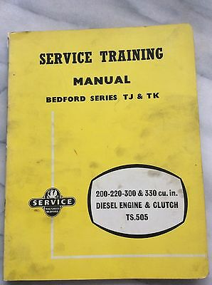 Bedford Service Manual Series TJ -TK With Supplement