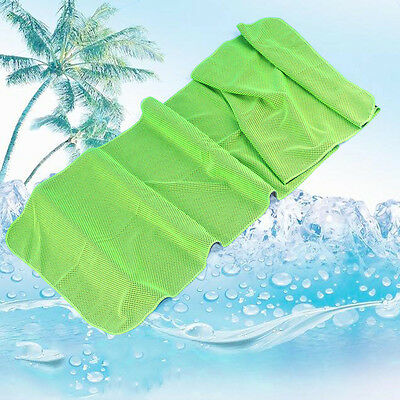 Green Summer Instant Cooling Towel Sweat Baby Absorb Dry Sports GymYoga Jopping