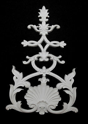 Ornate Moulding Wall Panelling Large Mirror Resin White Decorative Centerpiece