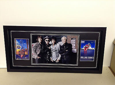 Rolling Stones Genuine Hand Signed/Autographed Photograph plus add photos & COA