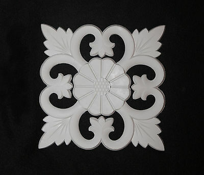 x2 Ornate Moulding Wall Panelling Big Mirror Resin White Decorative Square