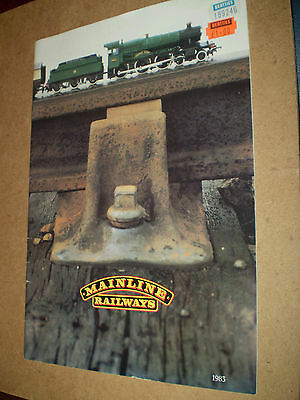Mainline Model Railways Toy Catalogue 1983 Uk Edition Excellent For Age