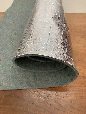 Heat and sound insulation aluminum foil backed auto carpet padding-BY THE YARD