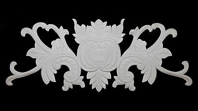 Ornate Moulding Wall Panelling Large Mirror Resin White Decorative