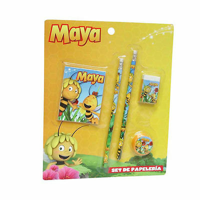 Set papeterie Maya l'abeille Willy crayon à papier gomme carnet taille crayon