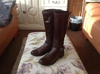 Clarks Brown leather knee high boots size 5.5