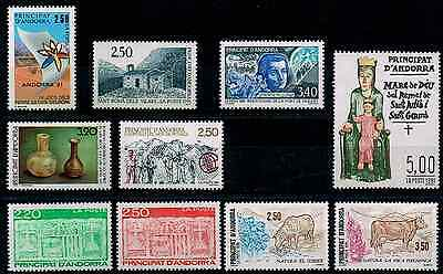 Timbres Andorre 1991 Lot Neuf** Superbe