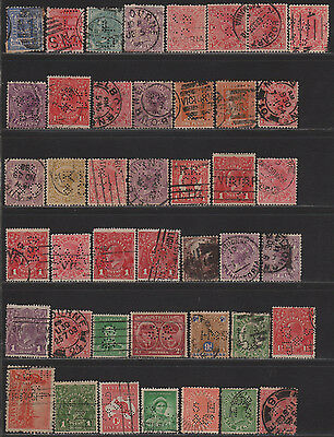 Australia Perfin Collection of Different Design Faces