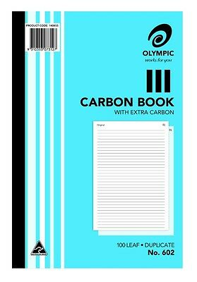 5 x Olympic Carbon Books 100 Leaf Duplicate with Extra Carbon No.602
