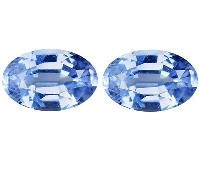 Natural Awesome Srilankan Blue Sapphires Loose Gemstone (Pair) Oval Oval Shape